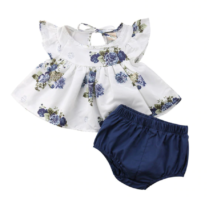 2 piece Blue and white