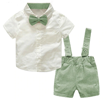 Boys Green and White 3 piece suit