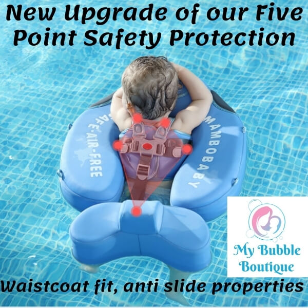 Mambobaby Australia Shark Chest Float My Baby Bubble Spa My Bubble Boutique 5 point harness